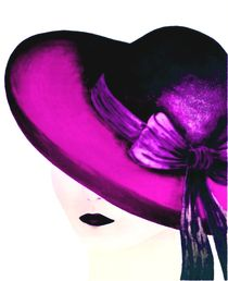 Frau mit lila Hut by Maria Arato Magri