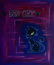 Bad Cat in the Night  by Maria Arato Magri