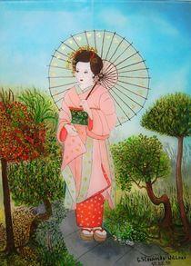 Geisha im Garten by G.Elisabeth Willner