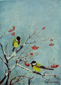 Meisen im Winter by G.Elisabeth Willner