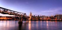 London Panorama zur Blauen Stunde von Robert Schulz
