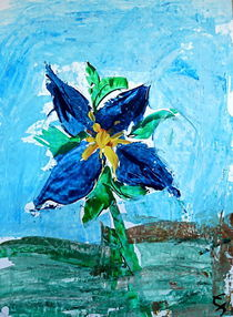 Blaue Blume von Elmo Hopp