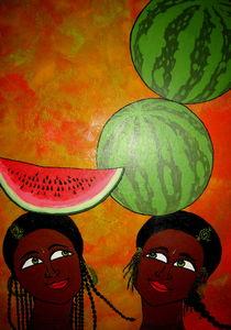 Melonen Mädchen by kharina plöger