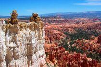 Bizarre Felsformationen im Bryce Canyon National Park der USA von Mellieha Zacharias