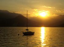 Goldener Sonnenuntergang am Lago Maggiore von mellieha
