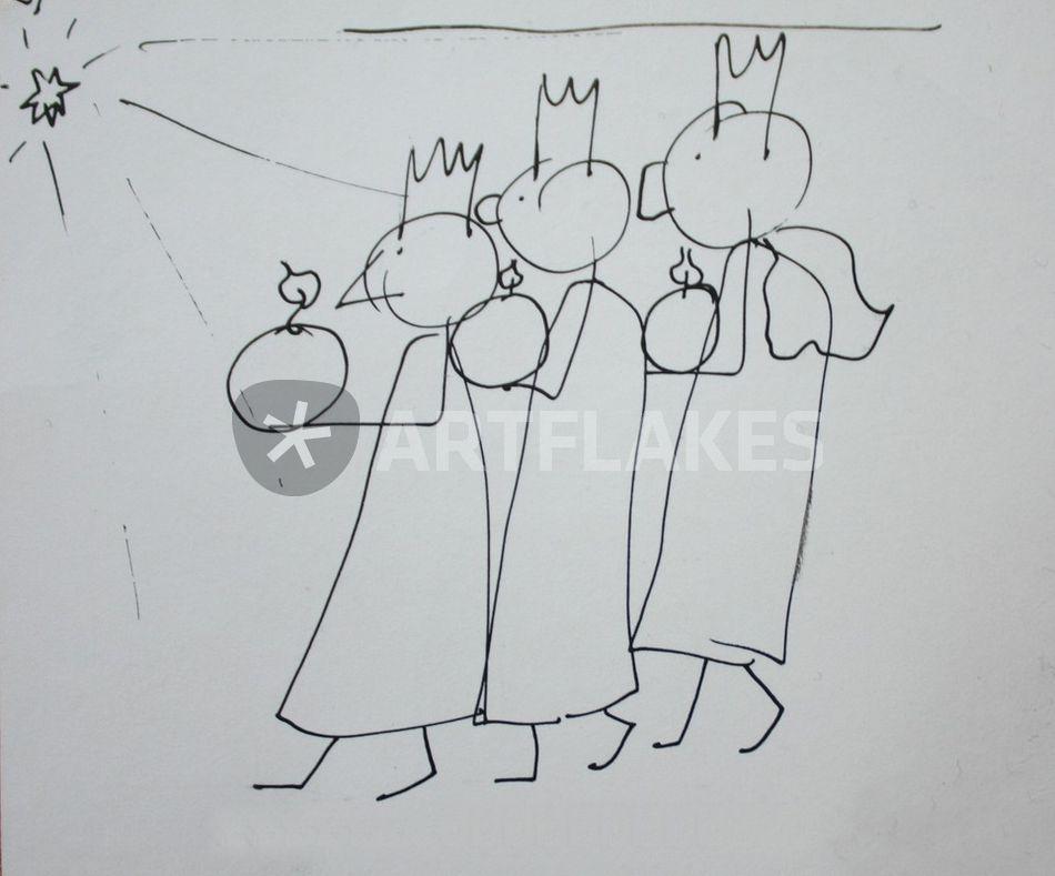 """""""die drei heiligen könige"""" zeichnung als poster und"""
