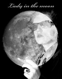 Lady in the moon by photofiction