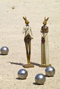 Hasenpaar und Boule von Thorsten Thiel