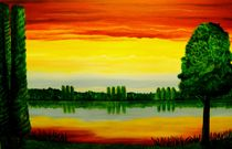 Fire Sky Lake by anel
