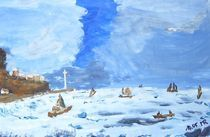 auf dem meer im winter by manfred richter