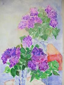 Stilleben 2 Vasen mit Flieder by Eva Jacqueline Weniger