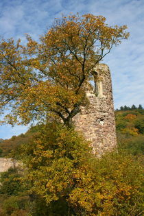 Turmruine im Herbst  Ruined tower in autumn  by hadot