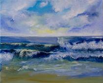 Wellen am Strand von lucane
