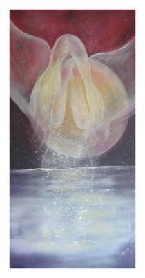 Engelstaufe Ölmalerei auf Leinwand von Irena Scholz