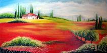 Toskana in der Mohnblüte  by Irena Scholz