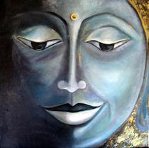 Buddhaportrait in Bronceoptik von Irena Scholz
