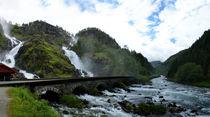 Norwegen - Wasserfall Latefossen von magdeburgerin