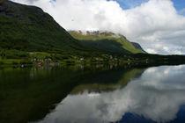 Fjordspiegelung in Norwegen by magdeburgerin