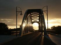 Sternbrücke in Magdeburg im Sonnenuntergang by magdeburgerin
