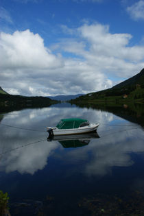 Bootsspiegelung im Fjord in Norwegen von magdeburgerin