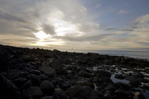 Segelboot auf dem Merr im Sonnenuntergang von magdeburgerin