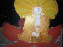 Buddha auf einer Lotosblume von kunstmkm