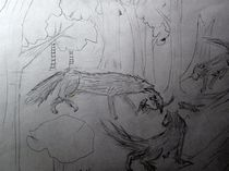 Wölfin mit Junge von kunstmkm