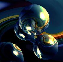 Blasen in Stahlblau von Regina Steinbrecher
