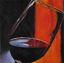Glas Wein von Gabriele Schilling