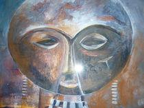 Maske eines afrikanischen Kriegers by Eva Hedbabny