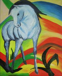 Blaues Pferd von Bärbel Knees
