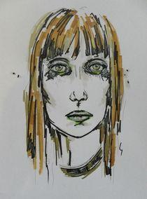 menschen,frau,portrait,zeichnung,bunt by nike