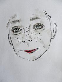 menschen,kind,portrait,zeichnung,bunt,rote lippen by nike