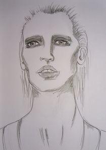 Frau,Menschen,Portrait,grau,schwarz,weiss,angst by nike