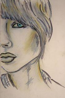 Frau,Portrait,bunt,Menschen,Zeichnung by nike