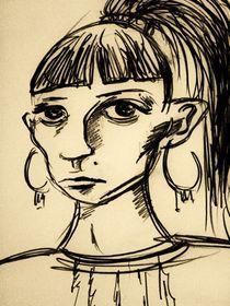Frau,Portrait,traurig,Menschen von nike