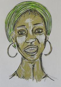 Frau,Afrikanisch,Portrait,Menschen,bunt von nike
