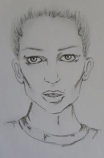 Portrait,Frau,dark,schwarz-weiss,Menschen by nike