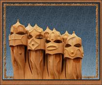 Die Schornsteine von Gaudi by Klaus Dolle