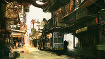 Border town ( Borderlands Concept) von Kate yu