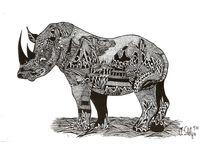 Nashorn verlinkt by Viktoria Anne Scheliga