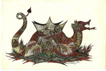 Glücksdrache-coloriert von Viktoria Anne Scheliga