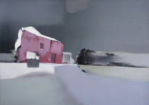 Das rosa Haus auf dem Berg von kunstmaleryuriy