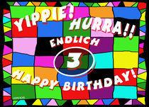 Geburtstagskarte für Kinder, 3. Geburtstag by helmerichs