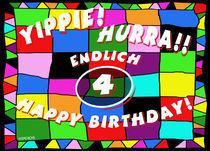 Geburtstagskarte für 4. Geburtstag von helmerichs