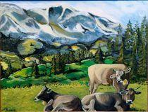 Kühe auf der Alm von Andrea Böttcher
