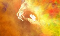 Löwe in Flammen von Alexandra Vardina