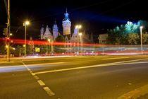 Neues Rathaus Leipzig bei Nacht von Marc Mielzarjewicz