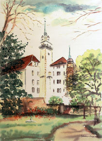 Rosengarten mit Hausmannsturm von Günther Fiege