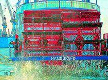 Raddampfer Hamburg, Serie Hafenansichten by maneraart